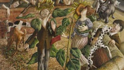 stanley_spencer_Sunflower_and_Dog_Worship