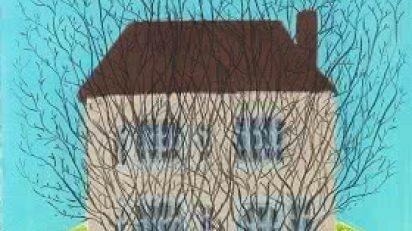 House_and_trees_2007_76_x_565_cm_Pastel_lpiz_carboncillo
