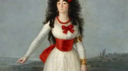 La Duquesa de Alba de blanco (1795). Francisco de Goya. Colección Duques de Alba.