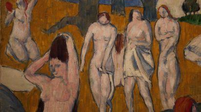 Émile Bernard. Bañistas, 1889, detalle. Óleo sobre lienzo. 47 x 57,2 cm. Colección Carmen Thyssen-Bornemisza en depósito en el Museo Thyssen-Bornemisza, Madrid. Foto Luis Martín.