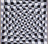 Francisco Sobrino. Composición geométrica, 1960/71. Acrílico sobre cartón 60x60cm