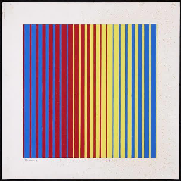 Francisco Sobrino. Composición, 1959. Gouache sobre cartón 50x50cm