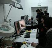 Grupo de trabajo en LABoral Centro de Arte.
