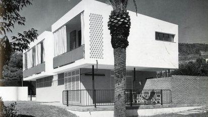 Oriol Bohigas, Josep Ma. Martorell Casa Guardiola. Argentona, Barcelona 1954-1955. Foto Francesc Català-Roca.