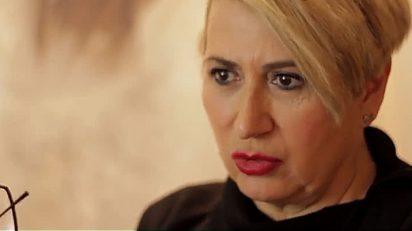 Carmen Calvo durante la entrevista en la galería madrileña Fernández-Braso.