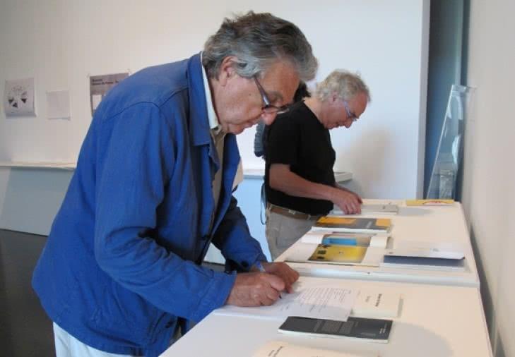 Antoni Muntadas y Enric Franch (Foto: Kippelboy), 2011.