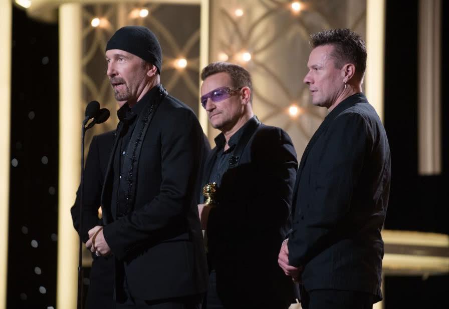 U2 se lleva el Globo de Oro a la mejor canción