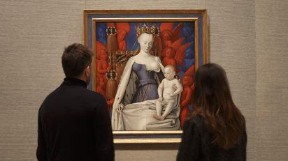 'La Virgen con el Niño y ángeles', una obra maestra de Jean Fouquet, artista francés del primer Renacimiento.