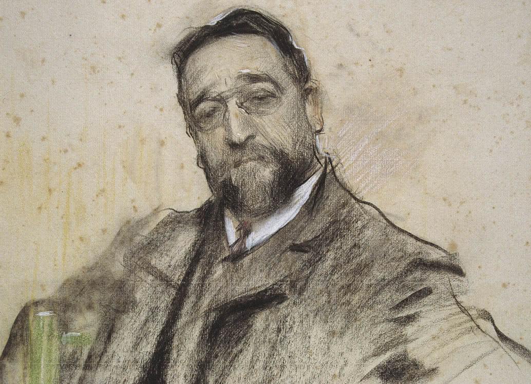 Ruperto Chapí. Por Ramón Casas. MNAC.