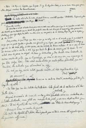 hoja manuscrito la colmena