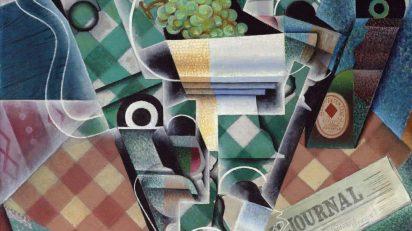 Morte à la nappe à correaux (1915). Juan Gris.