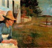 Edvard Munch. Atardecer, 1888. Colección Thyssen-Bornemisza