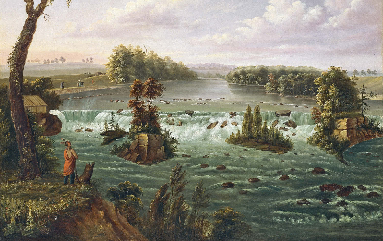 Henry Lewis. Las cataratas de San Antonio, Alto Mississippi. 1847.