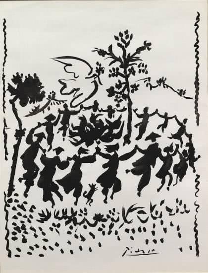 Pablo Picasso. La danza, 1957. Litografía