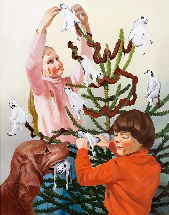 Tala Madani. Set Dressing, 2013. Oil on linen, 97x76cm.