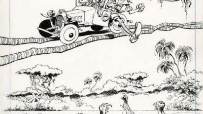"""André Franquin Spirou et Fantasio Couverture originale """"L'héritage"""", collection Pêché de jeunesse."""