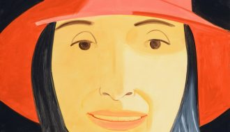 Alex Katz. Red Hat (Ada). Oil on canvas. 213,36x152,40cm.