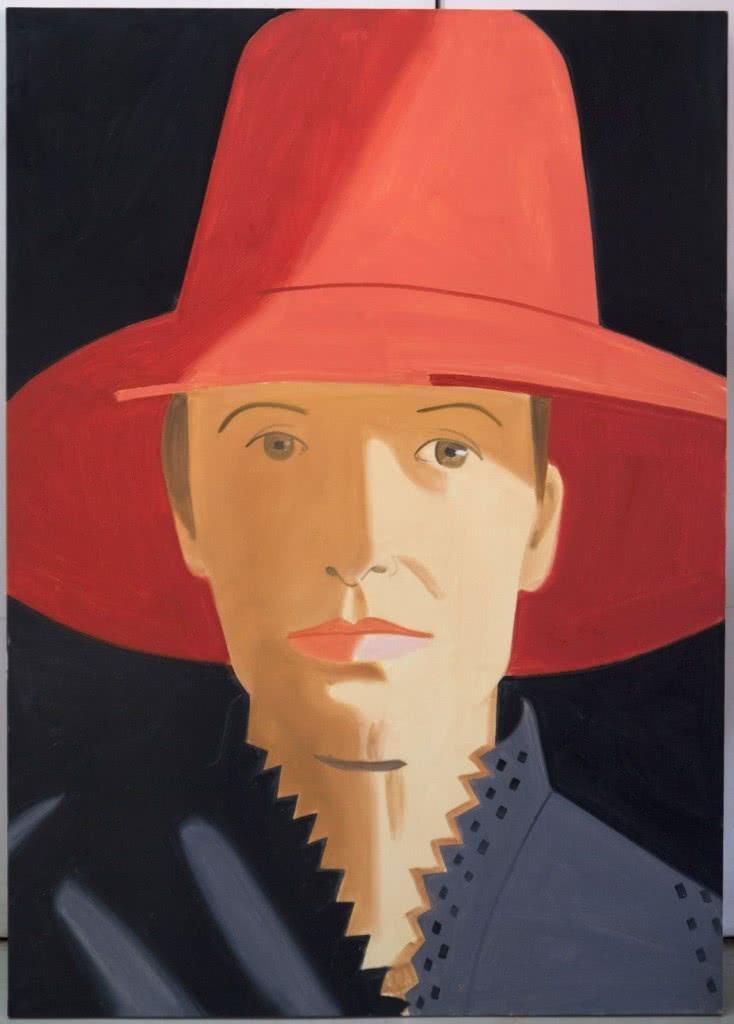 Alex Katz. Red Hat (Alba), 2013. Oil on canvas. 213,36x152,40cm.
