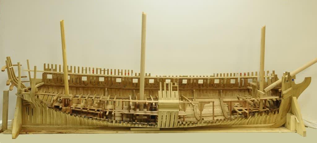 Modelo de la fragata de 34 cañones Nuestra Señora de las Mercedes (1788-1804). 2012-2014. Escala 1:48
