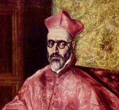 El Greco. Retrato de un cardenal, probablemente el cardenal Don Fernando Niño de Guevara (detalle), hacia 1600-1604. Nueva York, The Metropolitan Museum of Art.