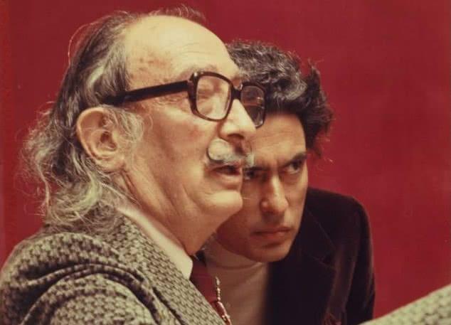 Salvador Dalí y Antoni Pitxot. © Melitó Casals, 'Meli'.