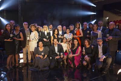 Ganadores de la XVII edición de los Premios Max de las Artes Escénicas. Foto: Enrique Cidoncha.