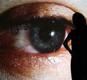 """Rafael Lozano-Hemmer, """"Surface Tension"""", 2007. ''Trackers'', La Gaïté Lyrique, Paris, 2011. Photo by: Maxime Dufour"""