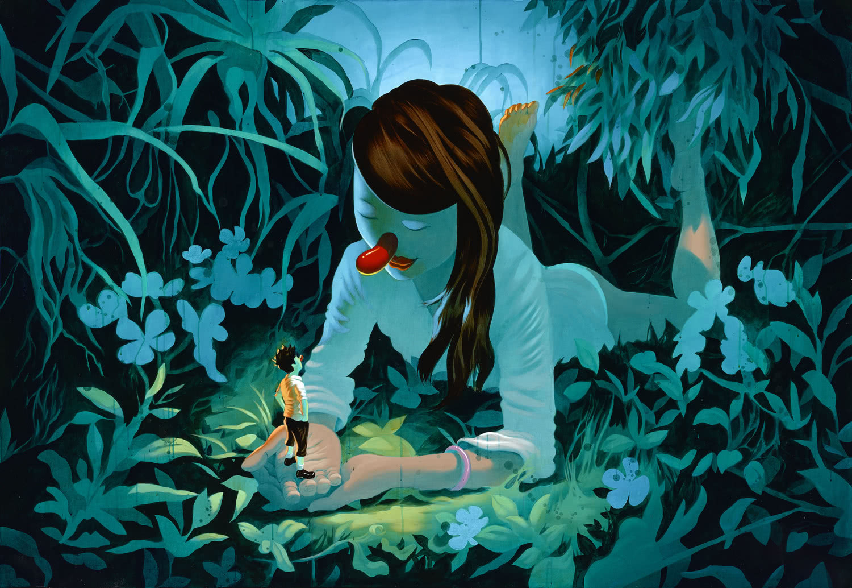'Strange Fiction'. Acrílico sobre madera (72X50) (1). Autor: Víctor Castillo.