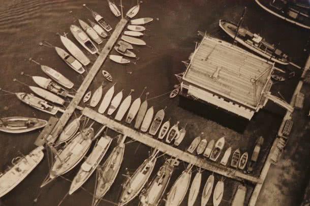 Agustí Centelles. Barcas en el puerto de Barcelona, ca. 1930 © Agustí Centelles.