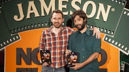 Adrián Ramos y Oriol Segarra, directores de 'El alpinista', gran premio del jurado de JamesonNotodofilmfest 2014.