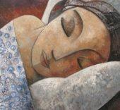 Didier Lourenço. Sleeping. Óleo sobre lienzo 100x100cm