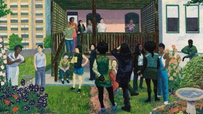 Kerry James Marshall. Garden Party [Fiesta de jardín], 2003. Foto: Tom Van Endye. Cortesía del artista, de Jack Shainman Gallery, Nova York, y de Koplin Del Rio, California.
