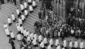 Eugeni Forcano. Exaltación franquista. Catedral Barcelona, 1962