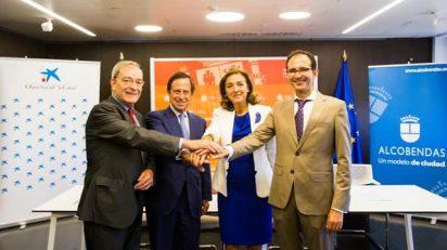 Jaime Lanaspa, Ignacio García de Vinuesa, Carmen Vela y José Ignacio Vera.