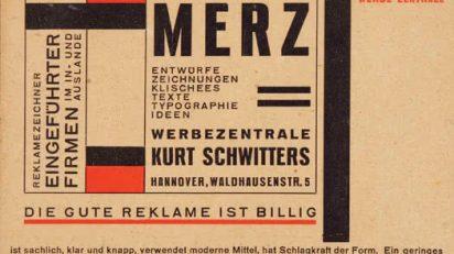 Tarjeta postal para Merz Werbezentrale, 1925-27. Colección Merrill C. Berman.