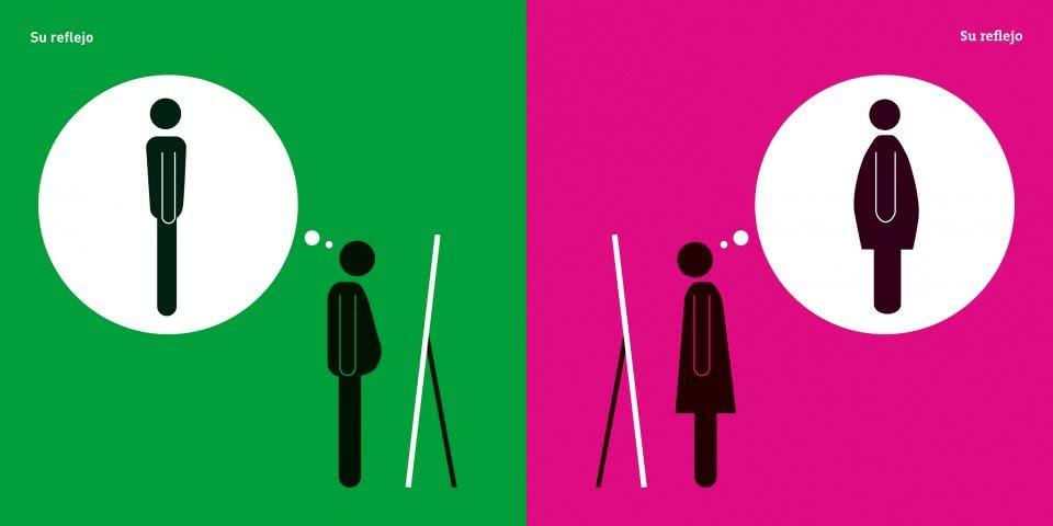 Hombre y mujer. Cara a cara