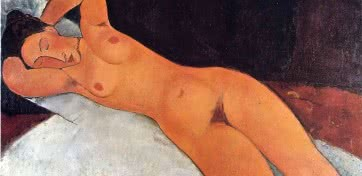 Amedeo Modigliani. Desnudo (Nu), 1917. Óleo sobre lienzo. Solomon R. Guggenheim Museum, Nueva York. Colección Fundacional Solomon R. Guggenheim, donación 41.535.