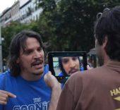 Sergio Peris-Mencheta en los ensayos de 'Hablar'