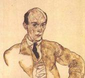 Arnold Schoenberg. Retrato del compositor por Egon Schiele.