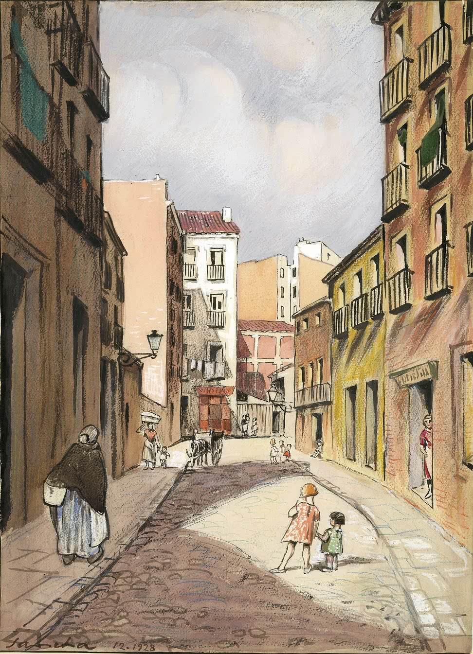 Francisco Sancha. Una calle de los barrios, 1929.