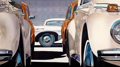 Don Eddy (Long Beach, California, 1944). Sín título (4VWs), 1971. Pintura acrílica sobre lienzo. 167 x 241 cm. F. Javier Elorza.