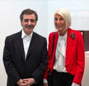 Manuel Borja Villel, director del MNCARS, y Soledad Lorenzo.