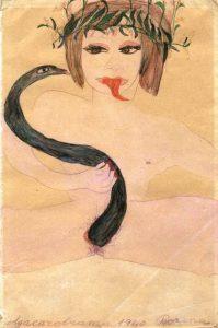 Carol Rama. Dorina, 1940. Cortesía del artista, colección privada, Colonia y Galerie Isabella Bortolozzi, Berlín.