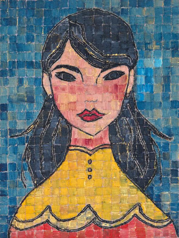 Ghizlan El Glaoui. Blue Blossom