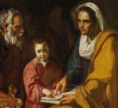 Diego Velázquez. La educación de la Virgen. 1617.
