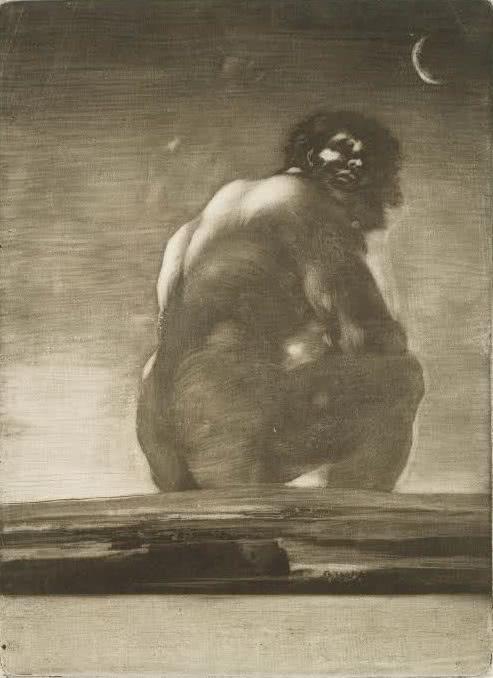 Francisco Goya. Seated Giant, 1818