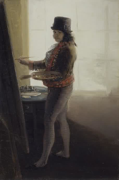 Francias Goya. Self Portrait While Painting, 1795
