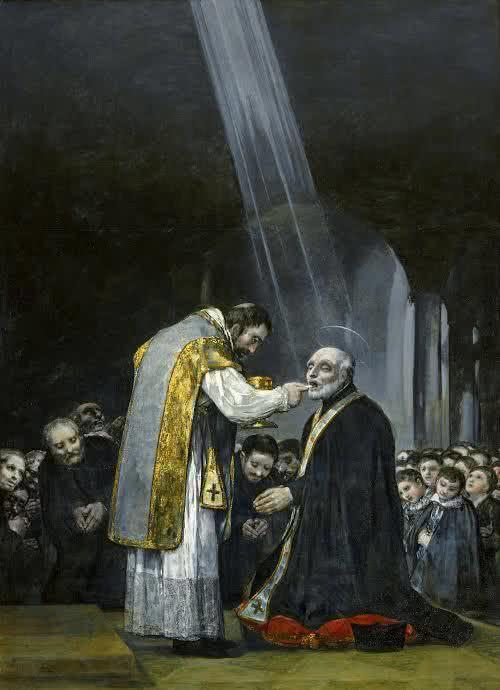 Francisco Goya. Last Communion of Saint Joseph of Calasanz, 1819