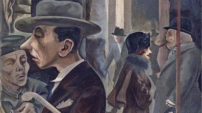 George Grosz. Escena callejera (Kurfürstendamm). 1925. Museo Thyssen-Bornemisza.