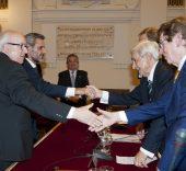 Javier Cenicacelaya e Íñigo Saloña reciben el Premio 'Rafael Manzano Martos'.